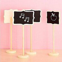 Musuntas Neue Minitafel 12 Tafeln auf Stick stehen Platzhalter Hochzeit Partydekoration Brett Größe für die Tischnummerierung und für das Buffet 8.5 * 6cm