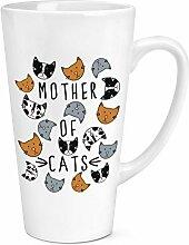 Mutter Cats 17oz große Latte Becher