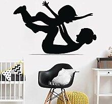 Mutter Und Baby Gymnastik Wandaufkleber Kunst