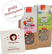 Muttertag Geschenk * Teeset Früchtetee und Kräutertee + GRATIS Muttertag Karte * Muttertagsgeschenk – Geschenk Mama – Geschenkidee Mama – Geschenk Mutter – Muttertagsgeschenk Idee von MyOma