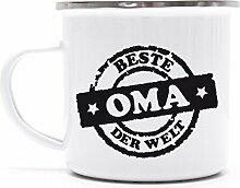 Muttertag Metalltasse Emaille Kaffee Becher