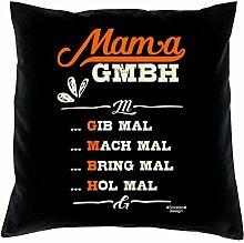 Muttertag, Muttertagsgeschenk Mama GmbH Geschenkidee für die Mutter Farbe schwarz, inkl. Füllung, Größe 40X40 cm