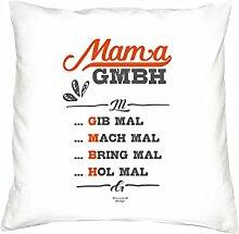 Muttertag, Muttertagsgeschenk Mama GmbH Geschenkidee für die Mutter Farbe weiß, inkl. Füllung, Größe 40X40 cm