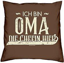 Muttertagsgeschenk Oma Kissen und Urkunde :+: Ich
