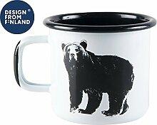 Muurla - Henkelbecher Kaffeetasse Tasse Becher - Bär - Emaille - 370 ml