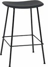 Muuto - Fiber Barhocker Tube Base H 65 cm, schwarz