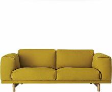 Muuto - Rest Sofa, 2 Sitzer, senfgelb (Hallingdal