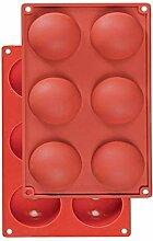 MUUZONING 1 Pack 6 Löcher, Silikon Muffinform,