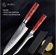 Muxel Messer-Set Messer Set Damaskus Kochmesser