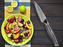 Muxel Schälmesser Damststahl, das Koch- und