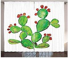 MUXIAND Kaktus Vorhänge reife Feigenkaktus