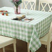 MUXIZI Kleine Frische Grüne Karierte Tischdecke