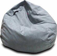 MUYSM Kinder - Erwachsener Highback Wasserdichter Bohnenbeutelstuhl Soft Sitzsäcke & Snuggly Stuhl Bohnenbeutel Gaming Sitzsack Garten Sitzliege Innen- Und Außenbereich ( farbe : Hellgrau , größe : 80*80cm )