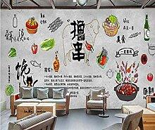Muzemum BBQ Hintergrund Wand 3D Tapete DIY