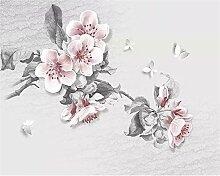 Muzemum Blumenhintergrundwand 3D Tapete DIY