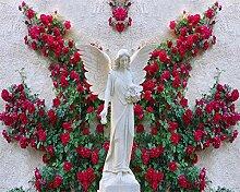 Muzemum Floral Engel Hintergrundwand 3D Wandbild