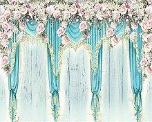 Muzemum Floral Vorhang Hintergrundwand Custom