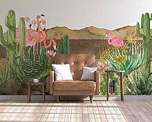 Muzemum Kaktusvogel-Hintergrundwand TV Hintergrund
