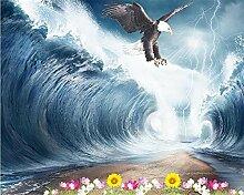 Muzemum Ozeanwellen Adler Hintergrundwand TV