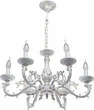 MW-Light 371011206 Kerzen Shabby Chic Kronleuchter