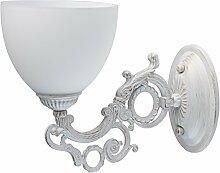 MW-Light 450026501 Shabby Chic Wandleuchte Weiß