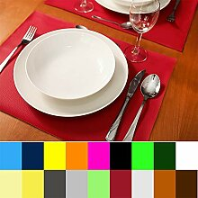 MW.Shop.24 Tischset Platzset Kunstleder 19 Farbe