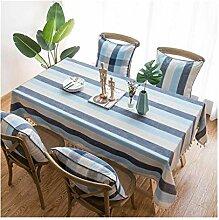 MWPO Tischdecke, Baumwolle und Leinen Quasten,