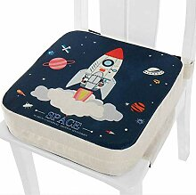 Basisago Baby Sitzerh/öhung Stuhl Soft Dining Chair Sitzpolster Verstellbarer Waschbarer Kindersitz Mit Gurten Esszimmerstuhl-Stuhlpolster Die F/üttern F/ür Kinder Zeichnen Und Schreiben Oder Spielen