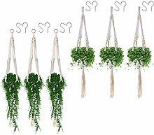 MXCELL DIY Makramee Pflanzenaufhänger