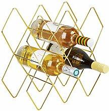 MXIN Weinregal, für 8-10 Flaschen, Metall,