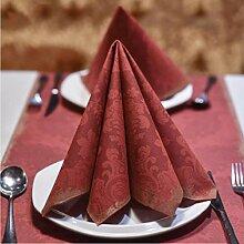 MXJ61 Serviette Tischdecke Hochzeit Restaurant Hotel Mund Tuch Tisch Flag Tischset Tischset 40 * 40 cm 50 Blätter / 1 Packungen ( größe : 5 packs )