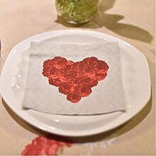 MXJ61 Serviette Tischdecke Hochzeit Restaurant Hotel Mund Tuch Tisch Flagge Tischsets Tischset 33 * 33 cm 20 Blätter / 1 Packungen ( Farbe : B )