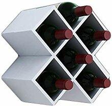 MXK Plaid Wine Rack - Freistehendes Weinregal -