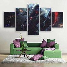 MXLYR Leinwanddrucke 5 Panel Wohnkultur Malerei