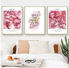 MXmama Nordic Rosa Rose Blume Kreative Englisch