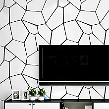 MXPL Moderne Minimalistische Schwarz-Weiß-Tapete