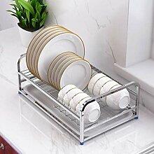 MXueei Küchenregal Abtropfgestell mit Besteckkorb