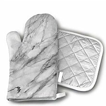 Mxung Carrara Marmorofen Handschuhe Küche Kochen
