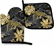 Mxung Gold Schwarz Tropische Schönheit Mode Natur