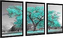 MXXC Pop artTeal Green Tree Landschaft