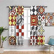 MXYHDZ Blickdicht Vorhang für Schlafzimmer -