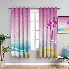 MXYHDZ Blickdicht Vorhang für Schlafzimmer - Rosa