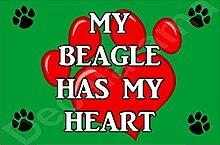 My Beagle Hat My Heart Hund Puppy Kühlschrankmagnet Geschenk/Geschenk