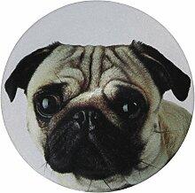 my bumpy Images Türstopper / Briefbeschwerer, Tür Halter, Mops / Pug Dog, H 2,5 cm, Ø 13 cm, 2386