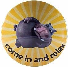 My Bumpy Türstopper / Briefbeschwerer, Tür Halter, Hippo-Come in and relax, H 2,5 cm, Ø 13 cm, 2904