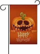 My Daily Funny Happy Halloween Kürbis Deko doppelseitig Garten Flagge 30,5x 45,7cm, Polyester, Happy Halloween-1, 28 x 40