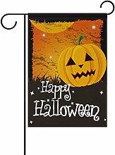 My Daily Funny Happy Halloween Kürbis Deko doppelseitig Garten Flagge 30,5x 45,7cm, Polyester, Happy Halloween-2, 28 x 40