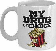 My Drug of Choice Popcorn Coffee & Tea Gift Mug