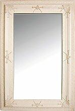 My Flair Barock Wandspiegel Weiß 180x100 cm
