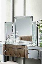 MY-Furniture COLLETA , Spiegel fuer Frisiertisch 3-teilig klappbar ( Chelsea Reihe)